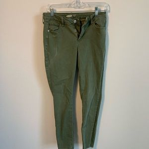 Old Navy Army Green Ankle Pants